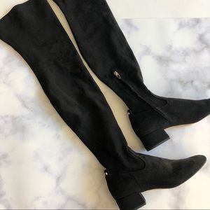 Dolce Vita Jimmy Over the Knee Boots in Black